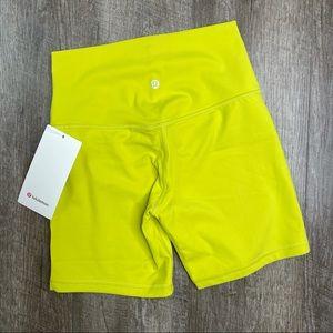 "lululemon Yellow Serpentine Align Shorts 6"" Size 6"